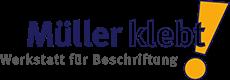 Müller klebt! Ihr Beschriftungsprofi in Leonberg. Logo
