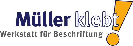 Müller klebt! Ihr Beschriftungsprofi in Leonberg. Retina Logo