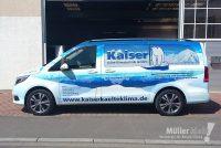 Müller klebt! Leonberg Fahrzeugbeschriftung MB Vito Kaiser Kälte