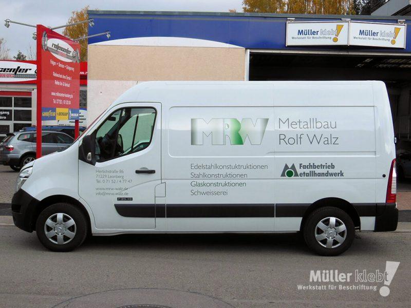 Müller klebt! Leonberg Fahrzeugbeschriftung Nissan NV400