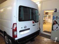 Müller klebt! Leonberg Fahrzeugbeschriftung Nissan NV400 unbeklebt
