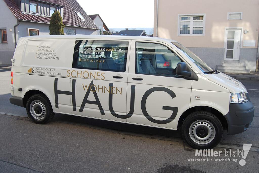 Müller klebt! Leonberg Fahrzeugbeschriftung VW T5