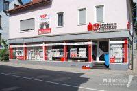 Müller klebt! Leonberg Filialbeschriftung Sparkassen Versicherung
