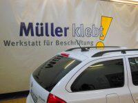 Müller klebt! Leonberg Logo-Beschriftung